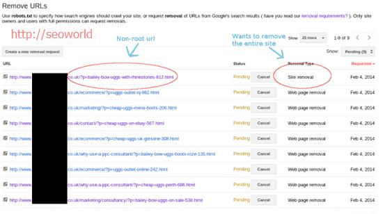 نحوه کار با Remove URLs در گوگل وبمستر