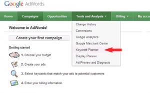 آموزش Keyword Planner گوگل AdWords